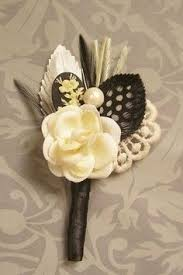 boutonniere cost feather and vintage button boutonniere with or by petalsandchalk