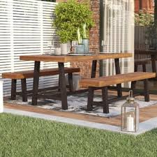 Wooden Patio Dining Set Wood Patio Dining Sets You Ll Wayfair