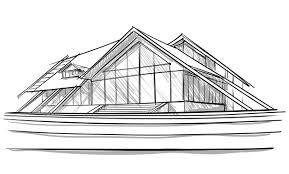 unique modern home architecture sketches and architectural sketch