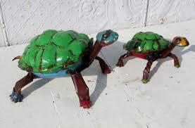 8 medium colorful turtle yard ornament lawn decor