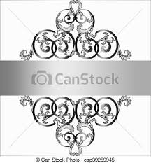 invitation card with classic silver royal ornament eps vector