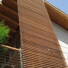 rivestimento listelli legno listelli e frangisole garapa ravaioli legnami soluzioni in legno