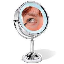 the 15x magnifying vanity mirror hammacher schlemmer