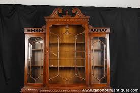 Bookcase Mahogany Victorian Gothic Breakfront Bookcase Mahogany Bookcases