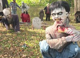 flesh eating zombie spirit halloween halloween horrors come to life in enormous michigan neighborhood