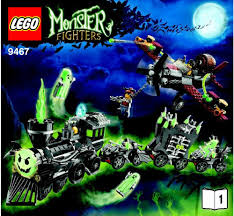 halloween legos lego the ghost train instructions 9467 monster fighters