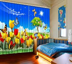 Butterfly Kids Room by Pastoral Style Hd 3d Curtain Garden Flowers Butterfly Kids Room
