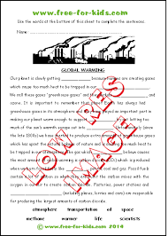 Global Warming Worksheet Children S Environment Quizzes
