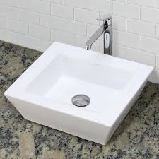 decolav 1432 cwh square above counter vitreous china bathroom sink