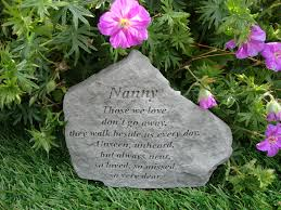 nanny memorial garden plaque grave marker ornament
