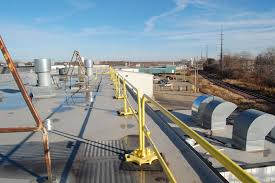 Temporary Handrail Systems Non Penetrating Guardrails Roof Guardrail Systems