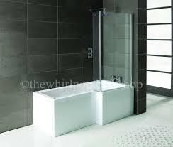 oceania 12 jet l shape whirlpool shower bath