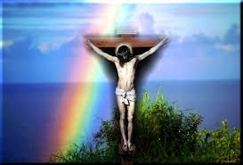 christian rainbow jesus free ppt backgrounds for your powerpoint