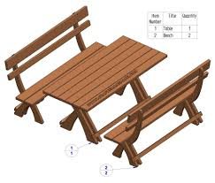 Bench And Table Set Lager Seating Set Plan