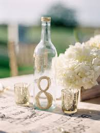 gold wine bottle table numbers gold glitter wine bottle table number elizabeth anne designs the