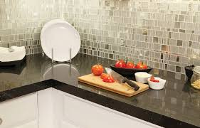 Mirror Backsplash Kitchen Small Kitchen Decoration Using Square Tile Mosaic Mirrored Kitchen
