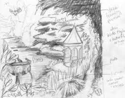 the sketch for tile mural