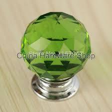 glass crystal door knobs 5pcs green glass crystal door knobs 40mm diameter cabinet pulls