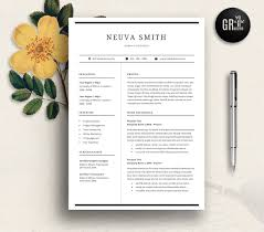 resume and cv samples resume templates creative market