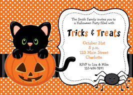 halloween background cat and pumpkin awesome halloween invitations idea with polka dot background and