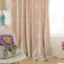tree pastoral elegant thermal long pinch pleated curtains