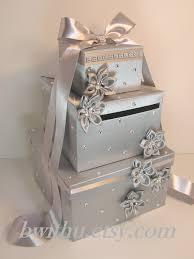 wedding money silver wedding card box gift card box money box holder customize