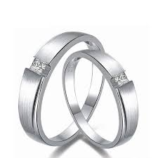 white gold wedding rings 0 06ct men 0 03ct women diamond ring 18k white gold wedding rings