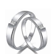 18k white gold wedding band 0 06ct men 0 03ct women diamond ring 18k white gold wedding rings