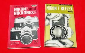 pair of vintage nikon f nikkorex f manuals and 50 similar items