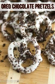 oreo white chocolate dipped pretzels chocolate dipped pretzels