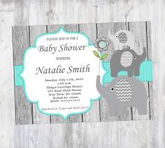 Baby Shower Invite Boy Baby Shower Invitations Elephant Theme Beautiful Rustic Baby