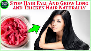Natural Hair Growth Treatments How To Stop Hair Fall And Grow Long And Thicken Hair Naturally