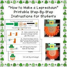 printable instructions classroom leprechaun craft printable instructions teaching the little people