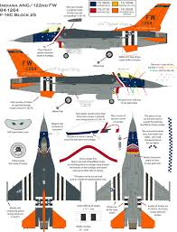 general dynamics f 16c fighting falcon 122 fw retro color profile