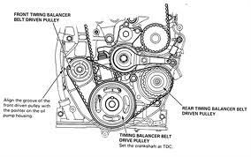 2003 honda accord v6 timing belt replacement solved location of timing marks on a 1996 honda accord v6 fixya