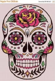 sugar skulls for sale on sale sugar skull 138 x 196 stitches cross stitch pattern
