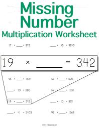 multiplication worksheet missing number stem sheets