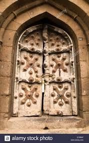 the ornamental door in sangeet mahal bijapur karnataka india