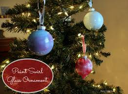 paint swirl glass ornament home crafts by ali