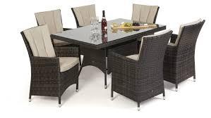 Maze Kitchen Table - maze rattan la 6 seat rectangle dining set mode living