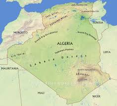Map Of Mali Algeria Physical Map