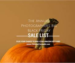 amazon black friday sale 2014 the annual big black friday sale list for photographers