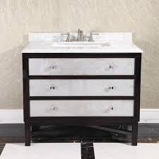 White Bathroom Vanity With Carrera Marble Top by Carrera White Marble Top 36 Inch Single Sink Brown Bathroom Vanity