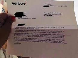 letter of termination of services verizon sending letters to lte in rural america users concerning