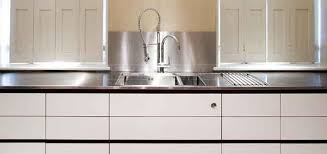 Stainless Steel Worktops Stainless Steel Kitchen Cabinets - Brushed stainless steel kitchen sinks