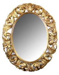 Baroque Home Decor A Well Carved Italian Baroque Style Oval Gilt Wood Mirror Epoca