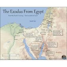 Sinai Peninsula On World Map by Exodus Route Map History Pinterest