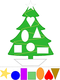 christmas tree craft learn shapes color template preschool