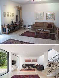 before and after a contemporary update for a 1980s house
