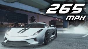koenigsegg regera top speed need for speed payback fastest car 265 mph koenigsegg regera